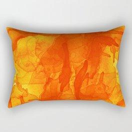 Microcosmos Rojo Rectangular Pillow