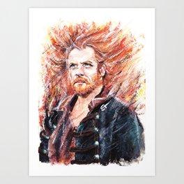 The blaze Art Print