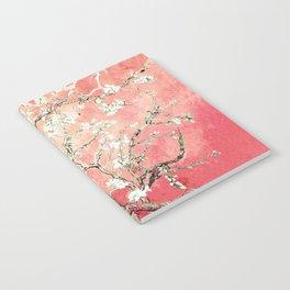 Van Gogh Almond Blossoms : Peach Notebook