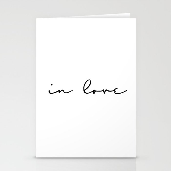 in love... Stationery Cards