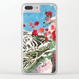 Ski Roses Clear iPhone Case