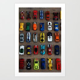 1980's Toy Cars Art Print