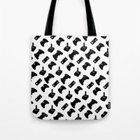 gamer Tote Bags featuring Gamer by C. Wie Design