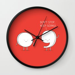 positive punctuation Wall Clock