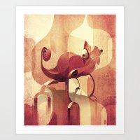 chameleon Art Prints featuring Chameleon  by Helder Oliveira