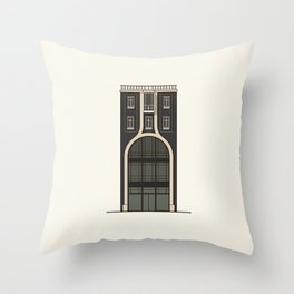 Black house with a shop Throw Pillow