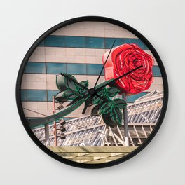 Rose City Wall Clock
