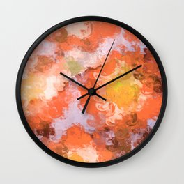 Coral Sunset Wall Clock