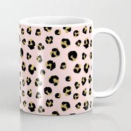 Pink and gold leopard Coffee Mug