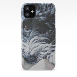 Havanese Dog Art Portrait from an original painting by L.A.Shepard iPhone Case