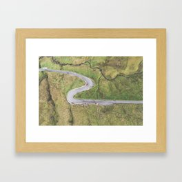Hairpin bends on Glengesh Pass, Donegal Framed Art Print
