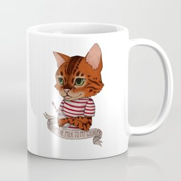 FRANKIE THE CAT - white Coffee Mug