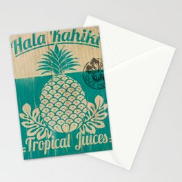 Hala Kahiki Juice Stand wooden board. Stationery Cards