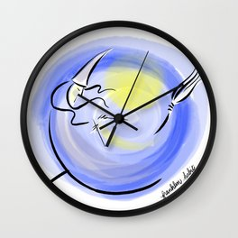 Knitting Witch Wall Clock