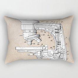 patent art microscope Rectangular Pillow