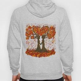 Digital painting of the season of Autumn Hoody