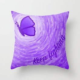 Keep Fighting (Digital) Throw Pillow