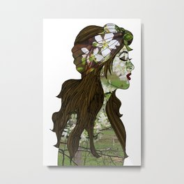 April in the Apple Blossoms Metal Print