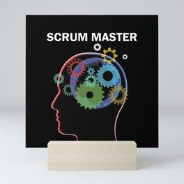 Agile Mindset Scrum Master Head Mini Art Print