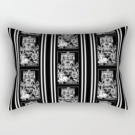 Black and White Tarot Print - The Chariot Rectangular Pillow