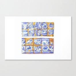 vintage tiles Canvas Print