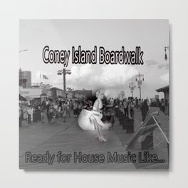 Ready to Dance on the Boardwalk of Coney Island House Music Metal Print