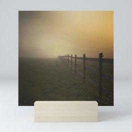 Misty Sunrise on the Farm Mini Art Print