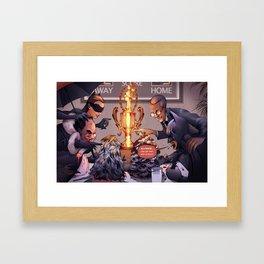 Eating Contest Framed Art Print