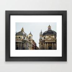 Piazza Del Popolo Rome Framed Art Print