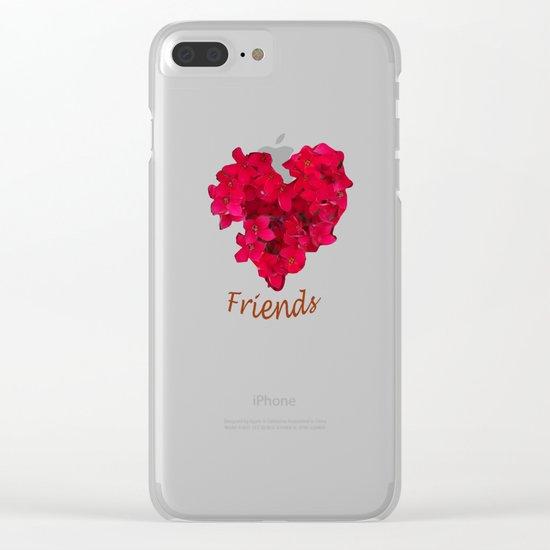 Loving Friends Clear iPhone Case