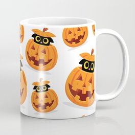 Cute Kitty Hidden Inside a Pumpkin Coffee Mug