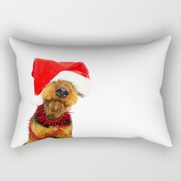 Airedale Terrier Christmas Photography Rectangular Pillow