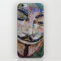 anonymous iPhone & iPod Skins featuring Anonymous by Michael Creese