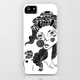 all hail the mushroom queen iPhone Case