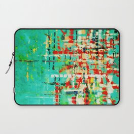 on my street -turquoise abstract Laptop Sleeve