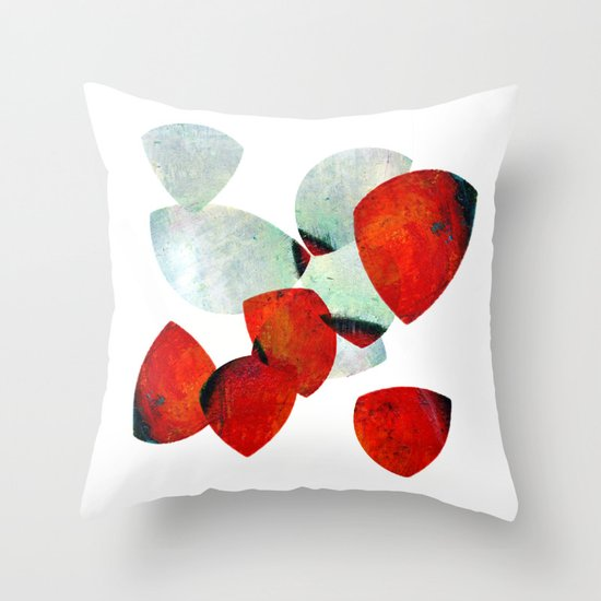composition in red and grey Throw Pillow