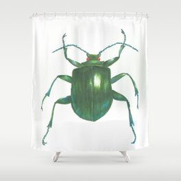 Big Beetle Shower Curtain
