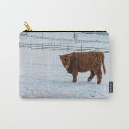 Are you looking at me, Scotish Highland Cow Carry-All Pouch