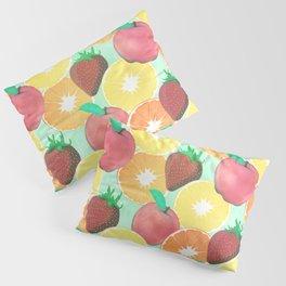 Stylish Colorful Summer Fruits Design Pillow Sham