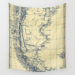 Patagonia - Blue Vintage Wall Tapestry