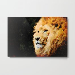Lion, King of the Jungle Metal Print