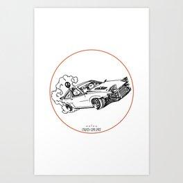 Crazy Car Art 0115 Art Print