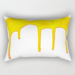 Yellow Splatter Rectangular Pillow