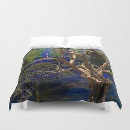 CONTEMPORARY BLUE  WILDERNESS ART  DESIGN Duvet Cover