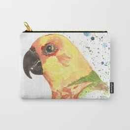 Yellow Parrot Carry-All Pouch