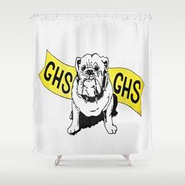 GHS Bulldogs Shower Curtain