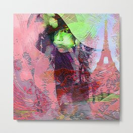 """"""" Add two letters in Paris: it is the paradise """" Metal Print"""