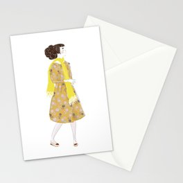 Cute girl Stationery Cards