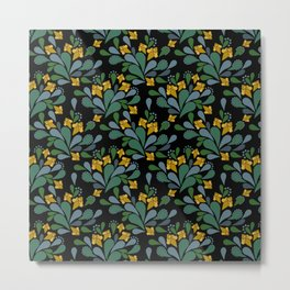 Retro floral pattern Metal Print