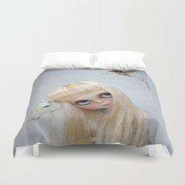 Erregiro Blythe Custom Doll, The White Horse Duvet Cover